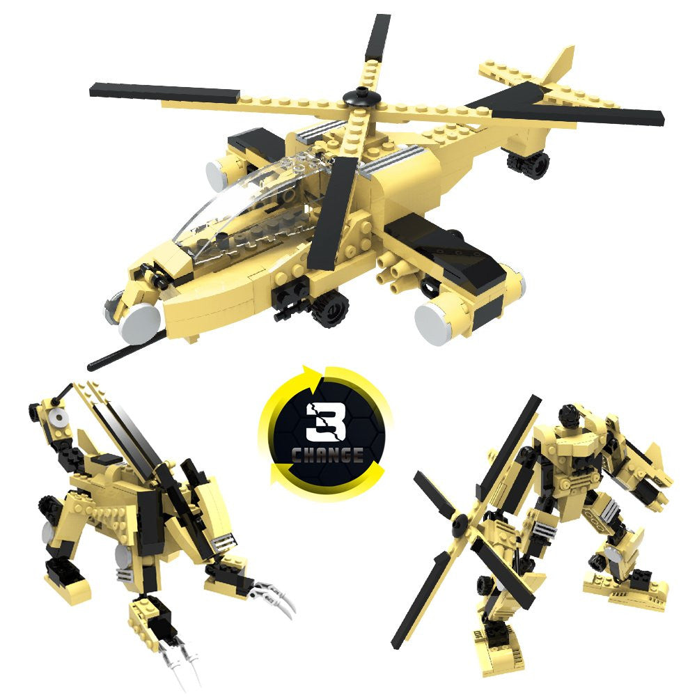 AH-64 Military Fighter And Army Battle Plane Aircraft Educational Building Bricks -Best Gift For Boys And Girls