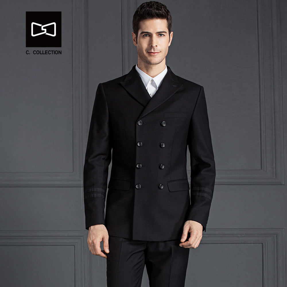 Tailor-made Men Double Breasted Wool Suit Slim fit Wedding Suit Men Tuxedo 2 Pieces(Jacket+Pants) No.SZ160XX