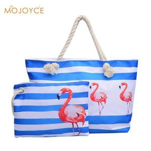 2pcs Beach Travel Handbags Clutch Composite Set Women Fashion Canvas Summer Girls Casual Shoulder Bag Shopping Totes Pineapple