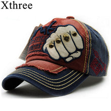 Load image into Gallery viewer, XTHREE unisex fashion men's Baseball Cap women snapback hat Cotton Casual caps Summer fall Hat for men cap wholesale