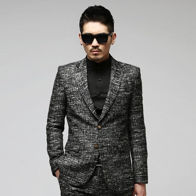 Men's South Korea Purchase Men's Casual Small Suit Korean Version of Self-cultivation Fashion Business Suit Dress CD50