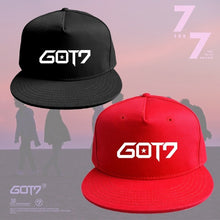 Load image into Gallery viewer, Europe and America GOT7 Kpop Fashion Style Baseball Cap Casual Hat For Men & Women (Red Black)