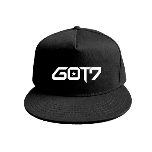 Europe and America GOT7 Kpop Fashion Style Baseball Cap Casual Hat For Men & Women (Red Black)