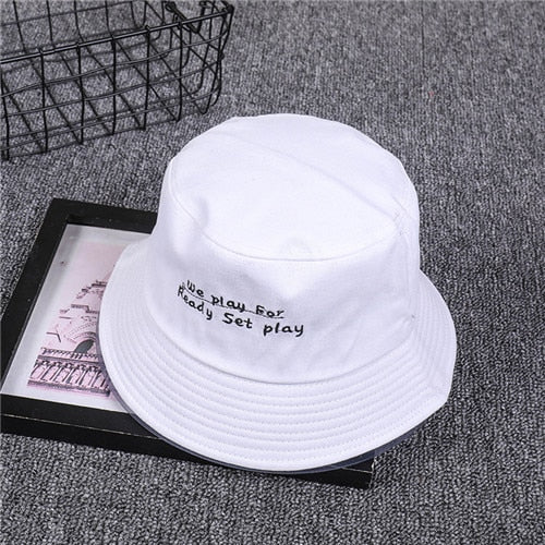 European and American simple letters fashion printed hat with travel fisherman hat hat strap hip hop hat