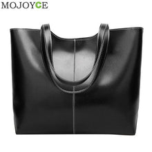 Load image into Gallery viewer, Retro Women Lady Simple PU Leather Shoulder Handbags Solid Shopping Totes Pouch Girls Large Capacity Travel Packs Bag Organizer
