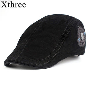 Xthree Fashion Men's newsboy Cap Cotton casquette Hats for Men Visors Sunhat Gorras Planas Caps Adjustable Berets