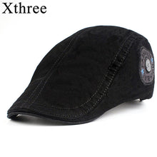 Load image into Gallery viewer, Xthree Fashion Men's newsboy Cap Cotton casquette Hats for Men Visors Sunhat Gorras Planas Caps Adjustable Berets