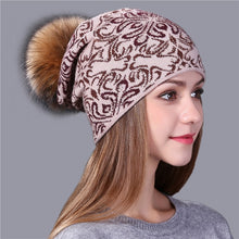 Load image into Gallery viewer, Xthree china bule and white style wool Knitted winter Hat for Women Beanie Skullies Warm Female  Gravity Falls Cap Gorros