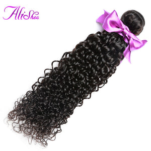 Alishes Hair Malaysian Curly Hair Bundles 8-28 Non Remy Hair Weaving 1/3 PCS Kinky Curly Human Hair Weave Bundles Natural Color