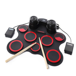Portable Roll Up Electronic Drum Set Kits USB MIDI Silicone Drum Musical Instruments  for Children Kids Learning Practice