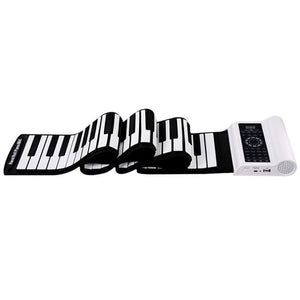 Portable Silicone Roll Up Electronic Piano 61 Keys Bluetooth MID Flexible Piano with Speaker Built-in Microphone Soft Keyboard