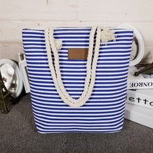 Load image into Gallery viewer, Girl Leisure Summer Canvas Shopper Shoulder Bag Striped Beach Bags Big Capacity Tote Women Ladies Casual Shopping Handbag
