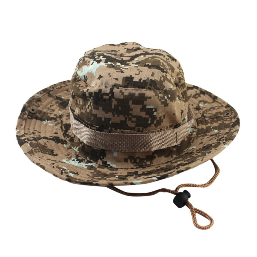 Adjustable Cap Camouflage Boonie Hats Nepalese Cap Army Mens Fisherman Hat