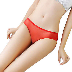 Women Fashion Yarn Indentation Underwear Sexy  Underwear Low Waist Briefs