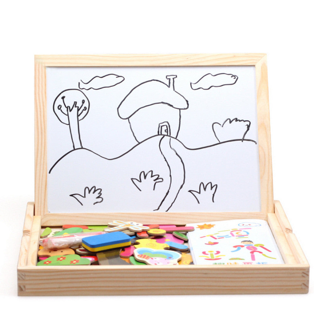 Kids Wooden Jigsaw Magnetic Board Puzzle Multi-functional Educational Toys