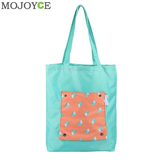 Fashion Women Shoulder Bag Oxford Cloth Waterproof Casual Bags Cartoon Animal Foldable Handbags Travel Portable Ladies Handbag