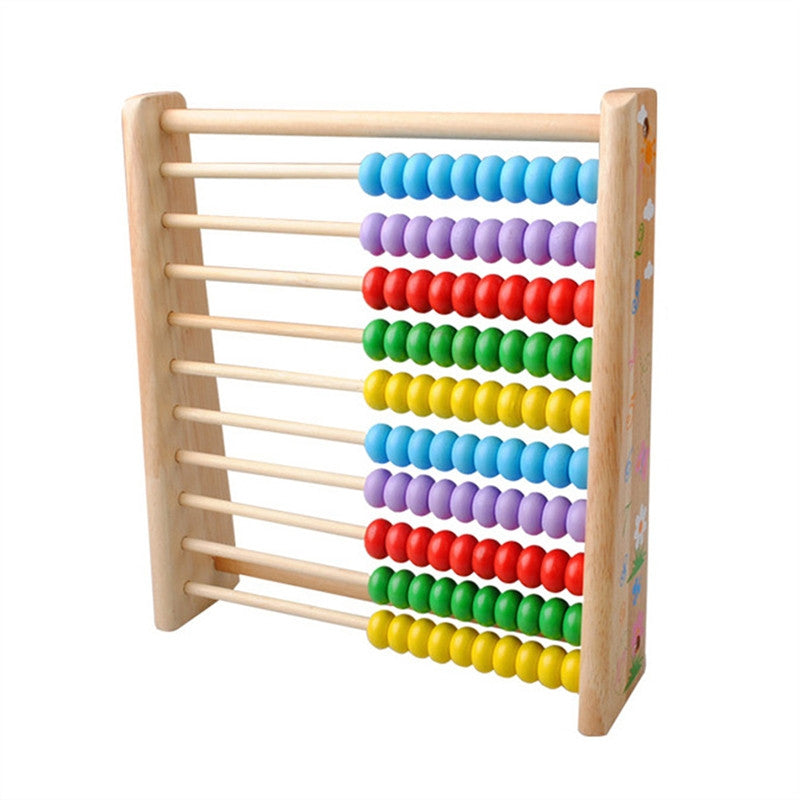 Wooden Vertical Counting Frame Calculation Educational Toys Abacus Math Arithmetic