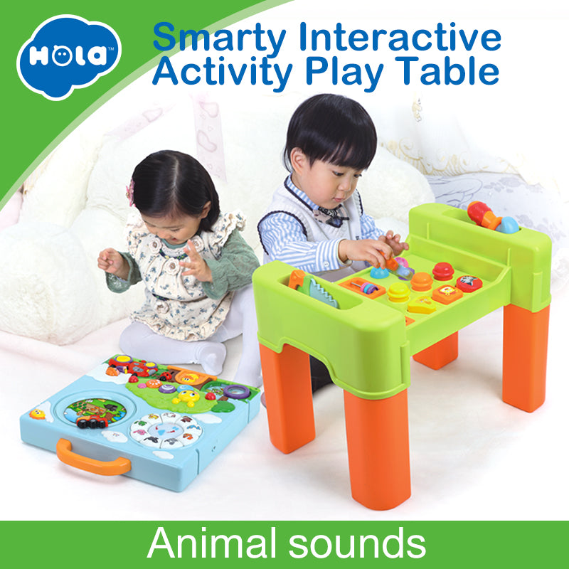 6 in 1 Changing Function Kids Learning Activity Table With Quiz, Music, Lights, Shapes, Tools and IQ Exploration Game Toys Gifts