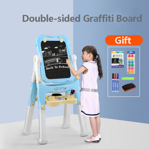 Children's Drawing Board Easel Bracket Magnetic Graffiti Board Writing Board Household Can Lift Double-sided Small Blackboard