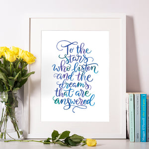 To the stars who listen - Indigo Eleven Design