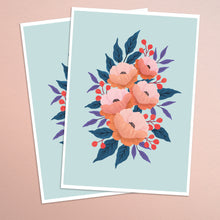 Load image into Gallery viewer, Peony in Coral - Indigo Eleven Design