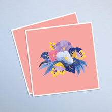 Load image into Gallery viewer, pastel hand painted floral illustration art print. blush pink background.