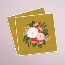 Load image into Gallery viewer, Florals on Mustard - Indigo Eleven Design
