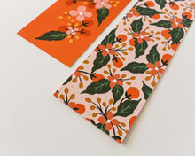 Load image into Gallery viewer, Coral & Blush Floral Bookmark