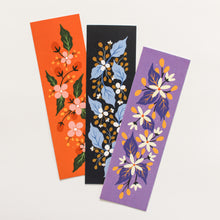 Load image into Gallery viewer, floral bookmarks colourful set of 3 - paper goods made in new zealand