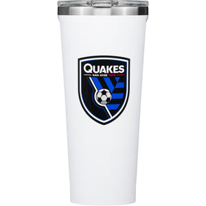 San Jose Earthquakes 24 Oz Gloss Tumbler-White
