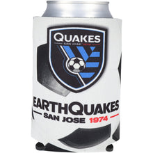 Load image into Gallery viewer, San Jose Earthquakes Soccer Ball Can Cooler