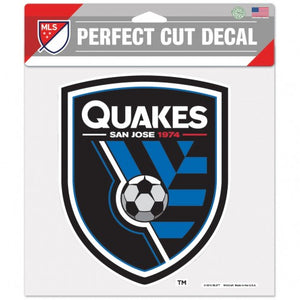 San Jose Earthquakes 8x8 PC Decal