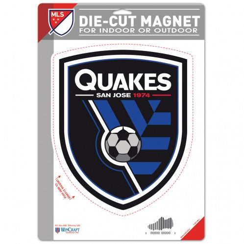 San Jose Earthquakes Die Cut Logo Magnet 6x9
