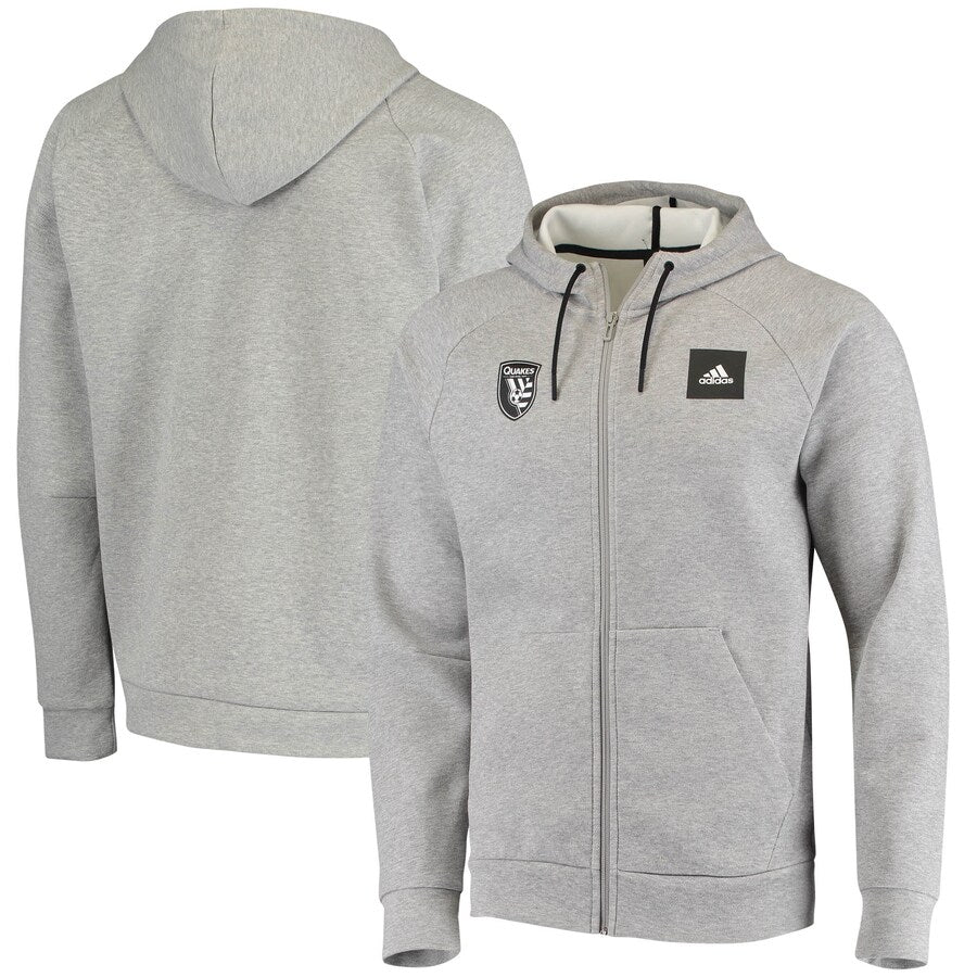 San Jose Earthquakes Men's Must Have Performance Full Zip Gray Hoodie