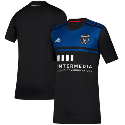 San Jose Earthquakes Men's Replica Primary Jersey-Black