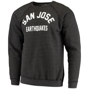 San Jose Earthquakes Men's Softee Wordmark Crew-Charcoal