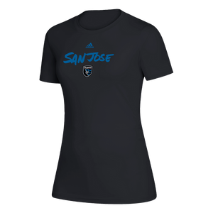 San Jose Earthquakes Women's Wordmark Short Sleeve Tee Black