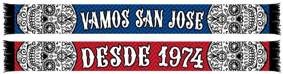San Jose Earthquakes Vamos Scarf