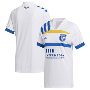 "SJE Youth Replica ""408"" Secondary Jersey - White"