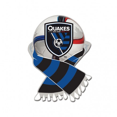 San Jose Earthquakes Ball & Scarf Logo Pin