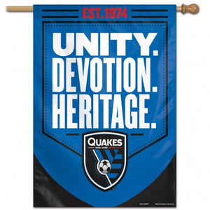 San Jose Earthquakes Vertical Flag 28x38