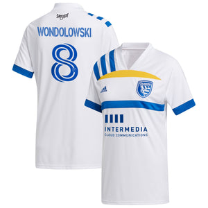 "SJE Youth Replica ""408"" Secondary Jersey- Wondolowski"