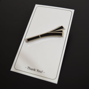 Leek Badge (Shadow Black) - Enamel Pin