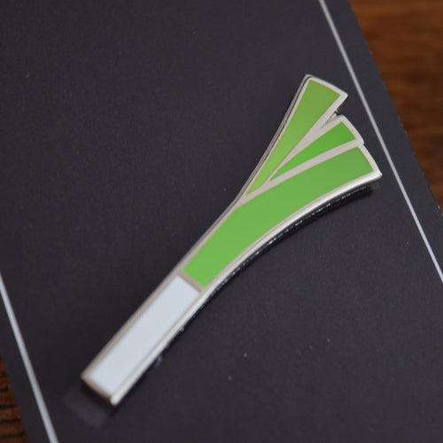 Leek Badge - Enamel Pin