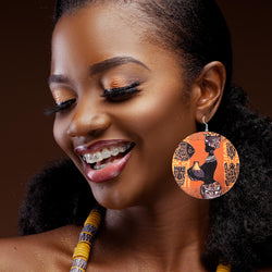 African Inspired Earrings For Mom - Miracle Prints