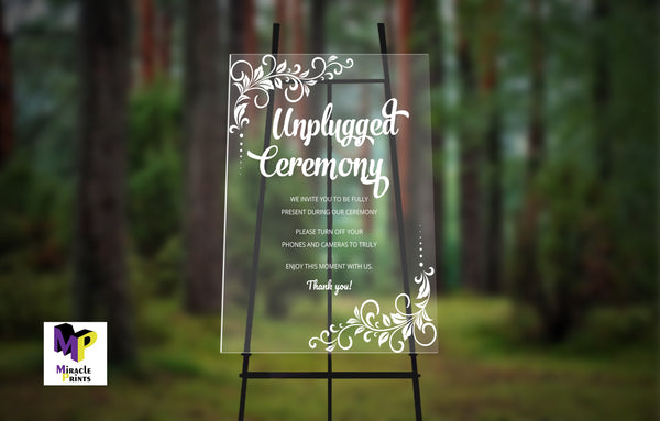 Welcome Wedding Sign - Miracle Prints