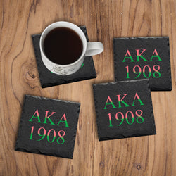 AKA Sorority Coasters - Miracle Prints