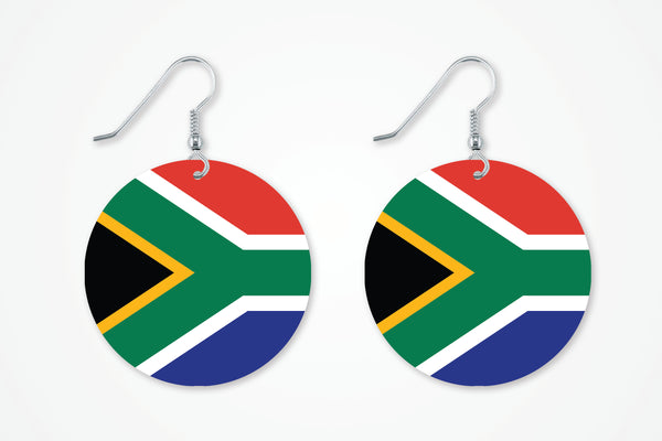 South African Flag Earrings - Miracle Prints