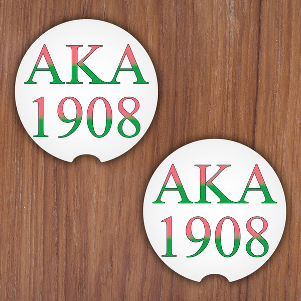 AKA SORORITY CAR COASTERS