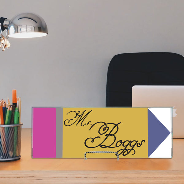 Desk Name Plate For Teacher Appreciation - Miracle Prints